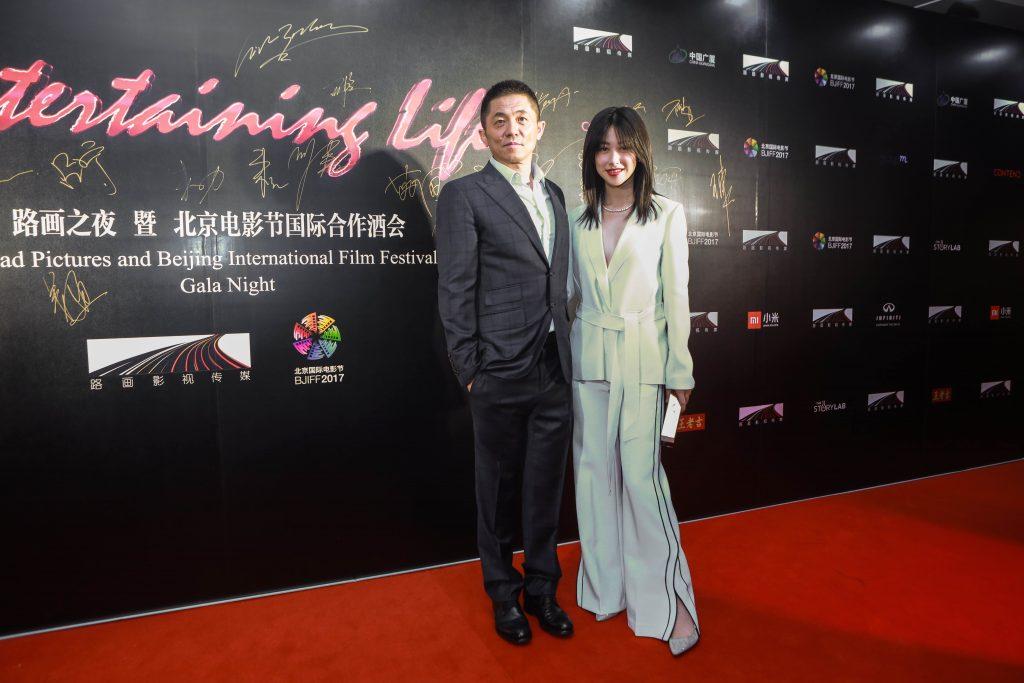 路画影视CEO蔡公明与演员朱珠2